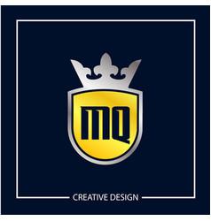 initial mq letter logo template design vector image