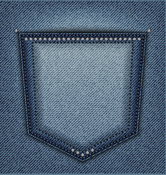 Jeans pocket with spangles vector
