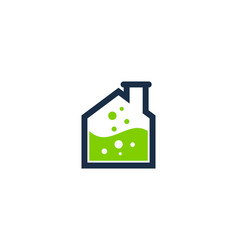 lab house logo icon design vector image