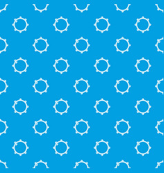little drums pattern seamless blue vector image