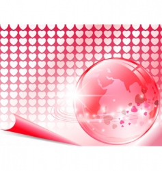 love around world vector image