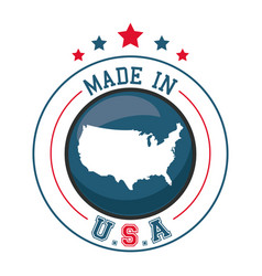 Made in usa map badge image vector