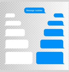 message bubbles design template for messenger chat vector image