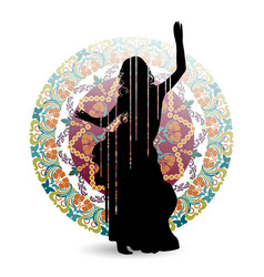 oriental dance dancer vector image