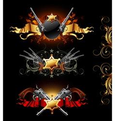 ornamental golden frames vector image