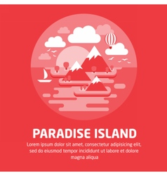 ParadiseIsland01 vector image