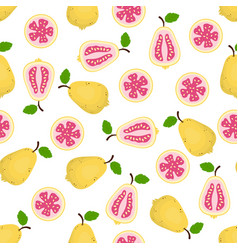 pattern with guava vector image