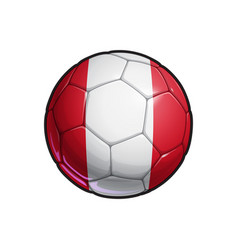 Peruvian flag football - soccer ball vector