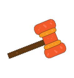 Pixelated hammer toy vector