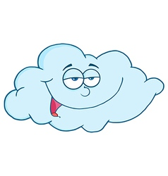 Pleased Blue Cloud vector