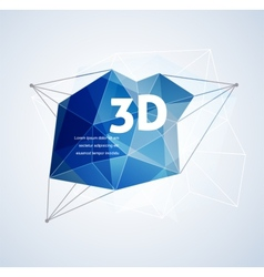 Polygonal geometric 3D printing background vector