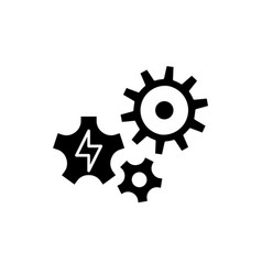 power supply black icon sign on isolated vector image