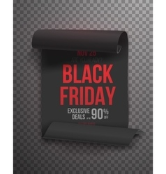 Realistic Black Friday Sale Curved Ribbon Banner vector