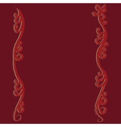Red flourish curves vector image vector image