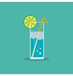 Refreshing non-alcoholic or alcoholic drink with a vector image