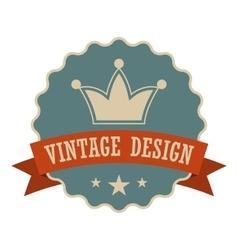 Retail vintage design banner vector image