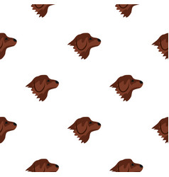 Retriever dog pattern seamless vector