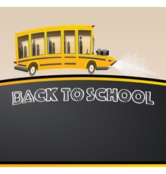 School Bus Racing Bus in Cartoon Style vector image