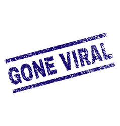 Scratched textured gone viral stamp seal vector