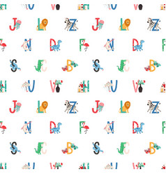 seamless childish pattern with capital letters vector image