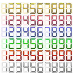 Set of digital numbers vector