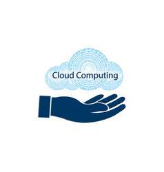 Sign computer cloud vector