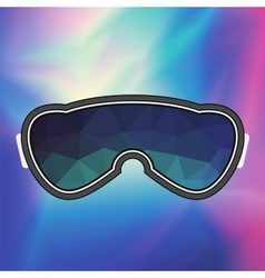 Ski Goggle Colorful Glasses vector image