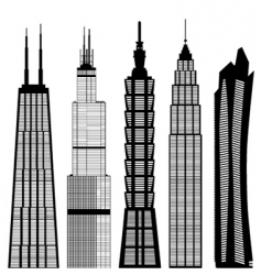 skyscraper buildings vector image
