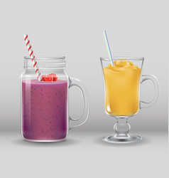 smoothie cocktail drink fresh summer bar glass vector image