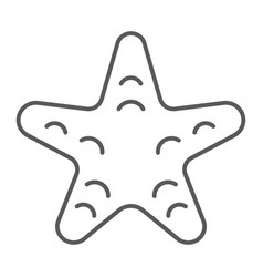 Starfish thin line icon animal and underwater vector