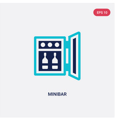 two color minibar icon from hotel and restaurant vector image