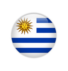 uruguay flag on button vector image