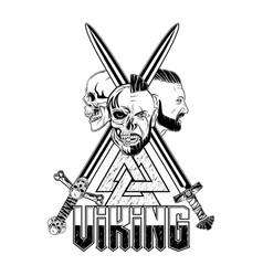 vikingi helmet 0015 vector image