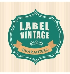 Vintage and retro label design vector image