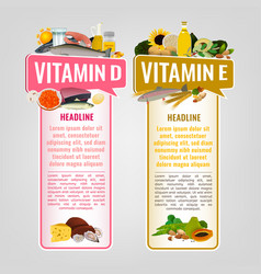 vitamin banners set vector image