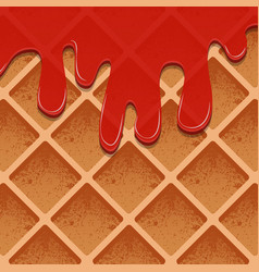 waffles in jam a realistic texture of the products vector image