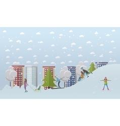 Winter activities concept vector