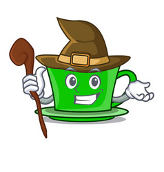 Witch green tea character cartoon vector