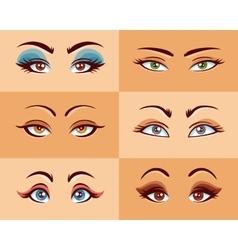 Women Eyes Set vector