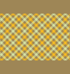 Yellow check diagonal fabric texture background vector