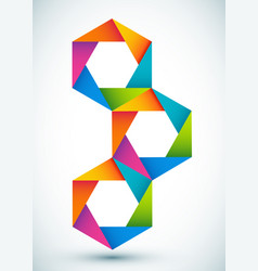 colorful shapes composition vector image vector image
