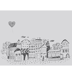fairy-tale town vector image