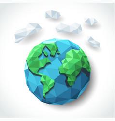 earth polygon vector image vector image