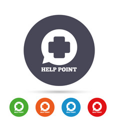 help point sign icon medical cross symbol vector image