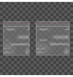 Template Blank Transparent Package Set vector image