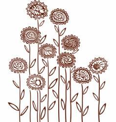 floral background sketch vector image vector image