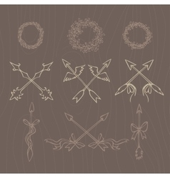 Hand drawn Vintage decorative lovely vector image vector image