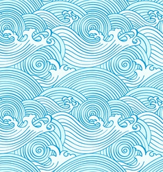 japanese seamless waves vector image vector image