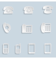Paper Phone Icons vector image vector image