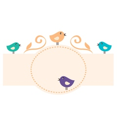 Beautiful Romance Birds Frame vector image vector image